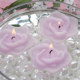 4 PCS Wholesale LAVENDER Rose Flower Floting Candles For Wedding Party Table Top Centerpiece Decoration