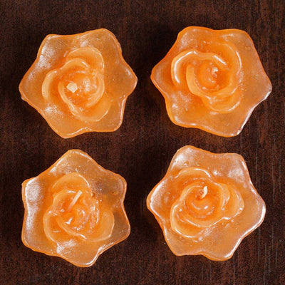 4 PCS Wholesale TANGO Rose Flower Floting Candles For Wedding Party Table Top Centerpiece Decoration
