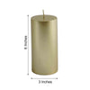 "6"" Gold Dripless Unscented Pillar Candle 
