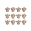 "12 Pack | 1"" Mini Rose Flower Floating Candles - Rose Gold 