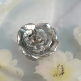 "12 Pack | 1"" Silver Mini Rose Flower Floating Candles"