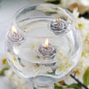 Mini Floating Rose Candle 12/pk - Silver