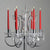 "10"" Premium Dripless Unscented Red Taper Chandelier Candles Wedding Party Decor - 12 Pcs"