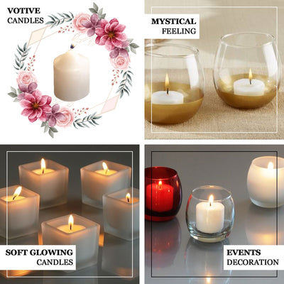 "12 Pack | 1.5"" Silver Dripless Unscented Votive Candles 