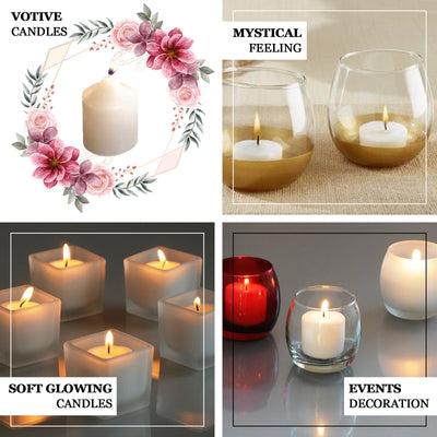 Pack of 12 | White Votive Candles