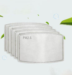 30 Pack | PM 2.5 Face Mask Filter, Activated Carbon Filter Insert With 5 Layer Filtration