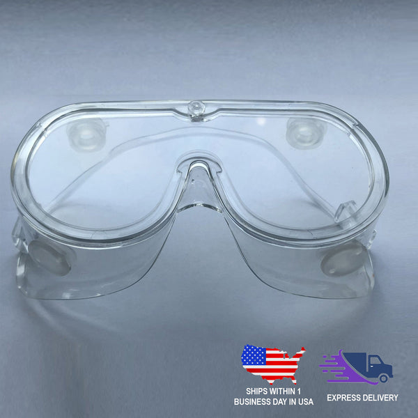 Adjustable Eye Protection Goggles | Protective Eyewear With Anti Fog Coating & Air Vents
