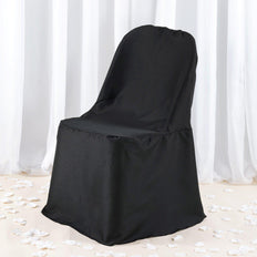 220 GSM Black Premium Polyester Folding Chair Cover