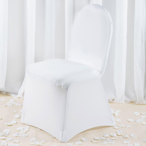 Premium White Spandex Banquet Chair Covers Party Wedding Event & Chair Covers u2013 tableclothsfactory.com