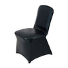 Metallic Black Glittering Shiny Premium Spandex Banquet Chair Cover