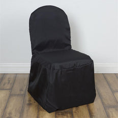 Black Polyester Banquet Chair Covers