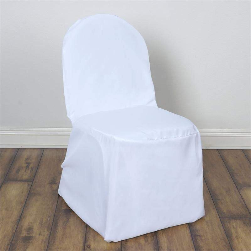 Surprising White Polyester Banquet Chair Covers Frankydiablos Diy Chair Ideas Frankydiabloscom