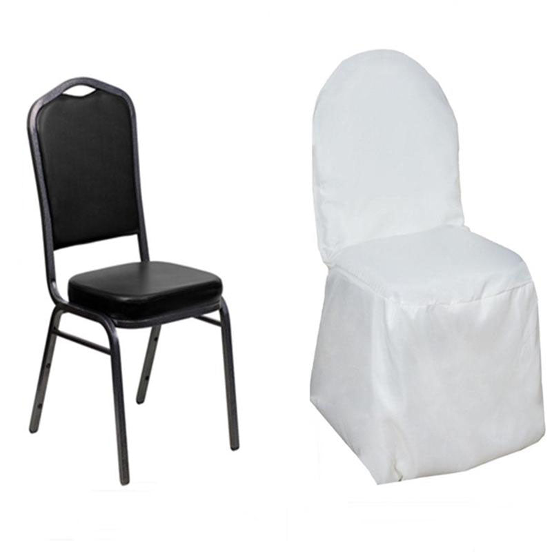 White Polyester Banquet Chair Covers Tablecloths Factory