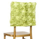 Grandiose Rosette Chivari Chair Cap for Wedding Party Event Decoration - Apple Green