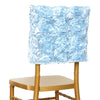 Grandiose Rosette Chivari Chair Cap for Wedding Party Event Decoration - Lt. Blue