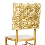 Grandiose Rosette Chivari Chair Cap for Wedding Party Event Decoration - Champagne