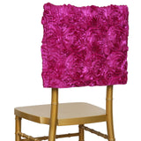 Grandiose Rosette Chivari Chair Cap for Wedding Party Event Decoration - Fushia