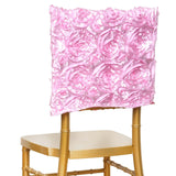 Grandiose Rosette Chivari Chair Cap for Wedding Party Event Decoration - Pink