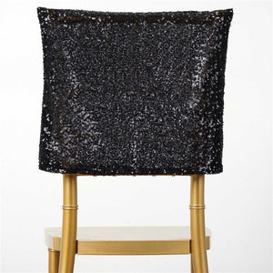 Premium Black Sequin Chair Cap for Wedding Party Event Decoration