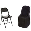 Black Polyester Folding Flat Chair Covers[overlay]Fits over Folding Style Chairs
