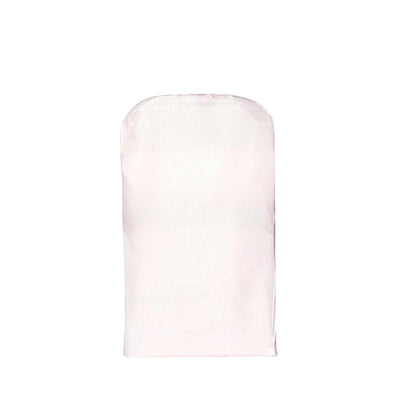 Blush Polyester Folding Round Chair Covers