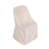Beige Polyester Folding Round Chair Covers