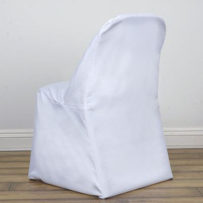 White Folding Flat Chair Cover
