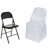 White Polyester Folding Round Chair Covers[overlay]Fits over Folding Style Chairs