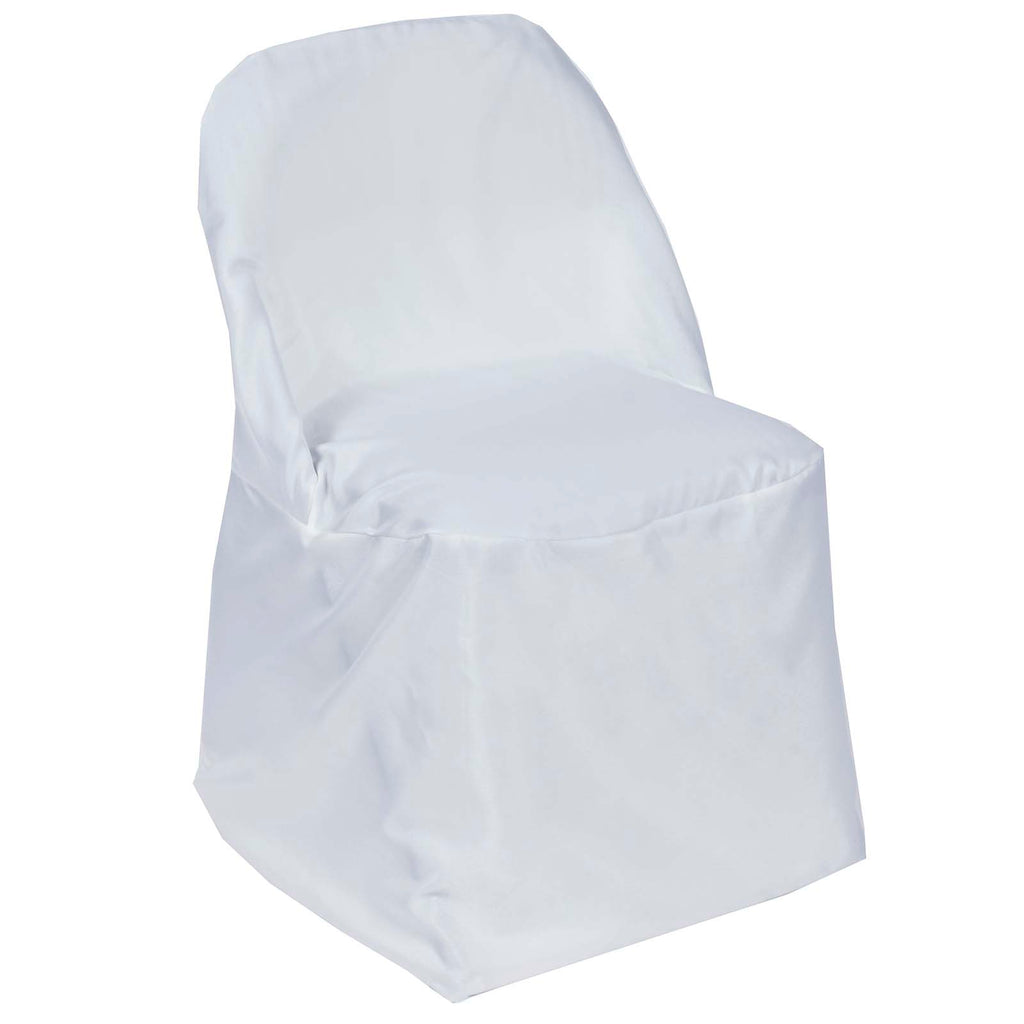 Brilliant White Polyester Folding Round Chair Covers Lamtechconsult Wood Chair Design Ideas Lamtechconsultcom