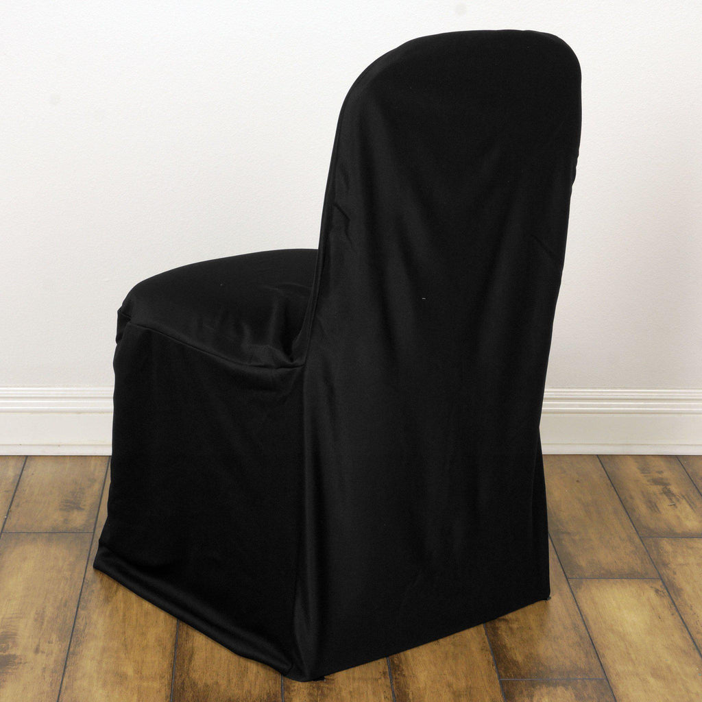 Chair Covers Stretch Scuba Black Tablecloths Factory