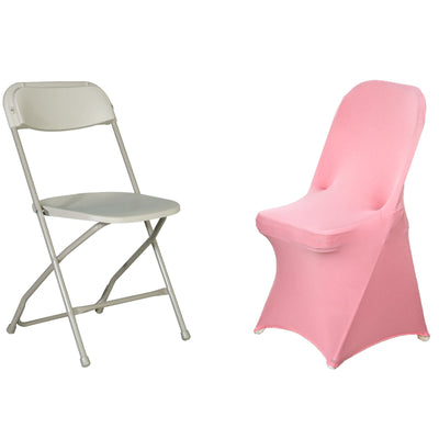 Rose Quartz Spandex Stretch Folding Chair Cover