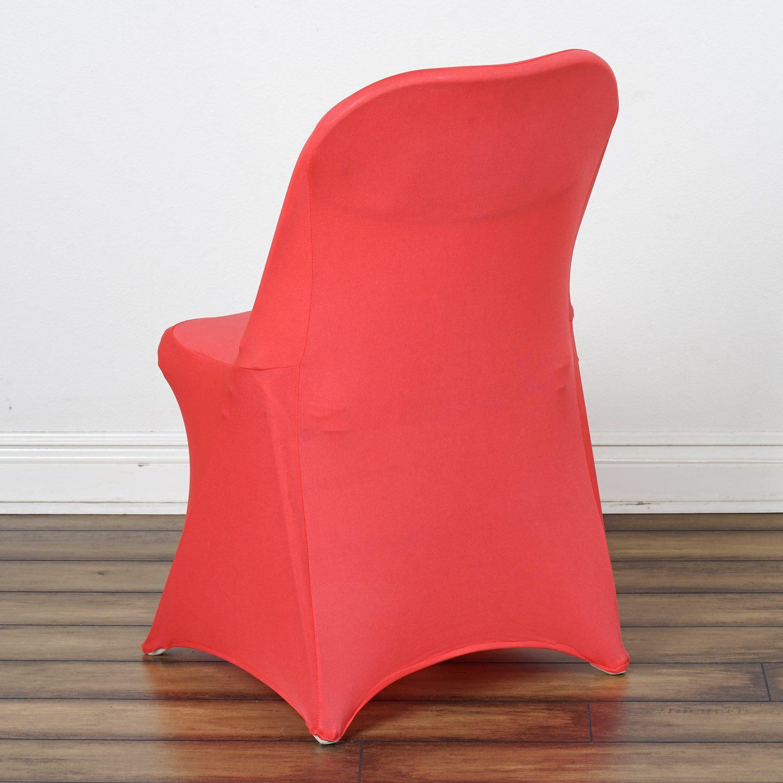 Coral Spandex Stretch Folding Chair Cover Tablecloths