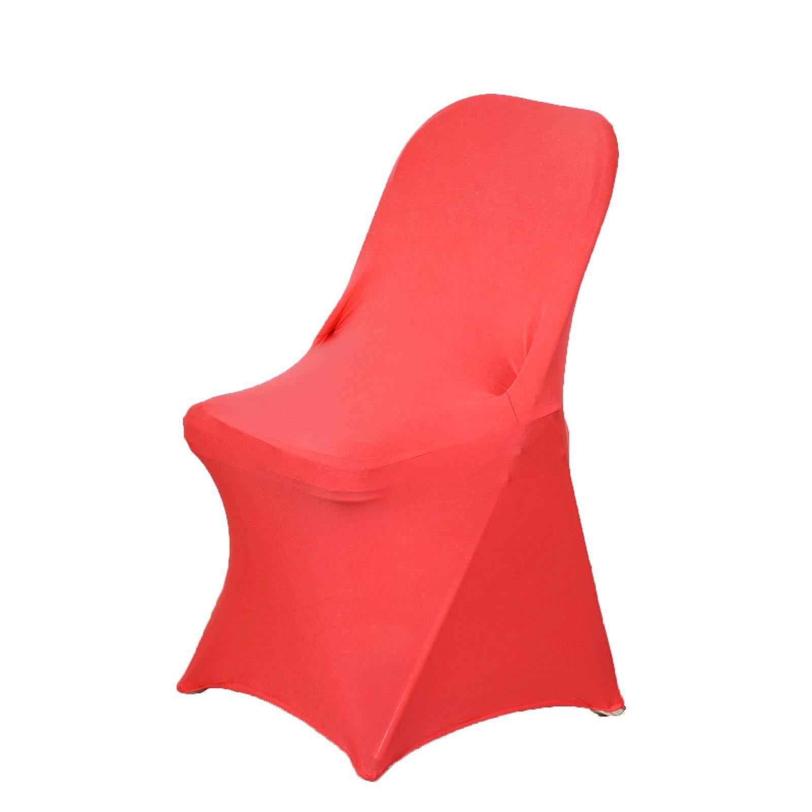 Chair Covers for Folding Chair Spandex Coral
