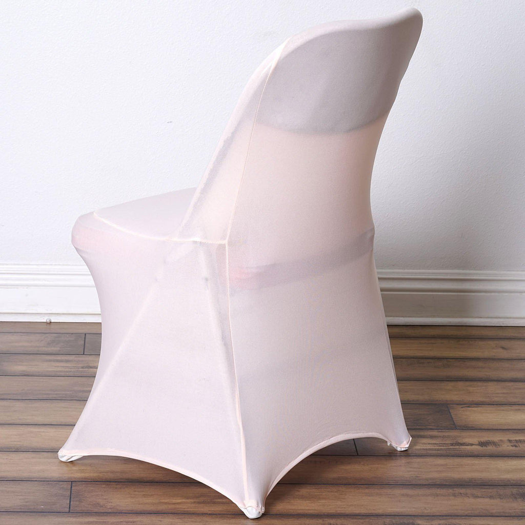 Excellent Blush Rose Gold Spandex Stretch Folding Chair Cover Alphanode Cool Chair Designs And Ideas Alphanodeonline