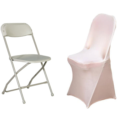 Blush Spandex Stretch Folding Chair Cover