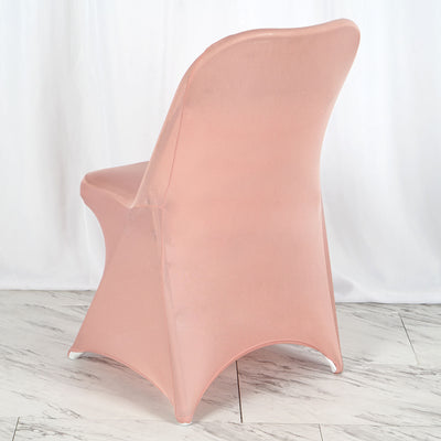 Dusty Rose Spandex Stretch Folding Chair Cover