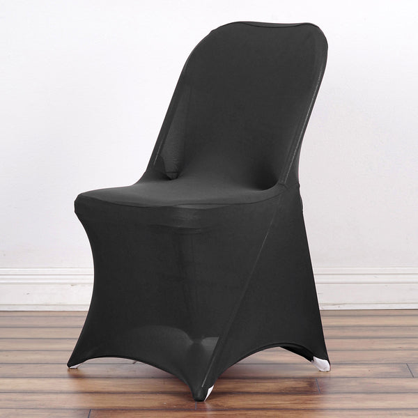 Wholesale Black Spandex Stretch Folding Chair Cover Wedding Party Event  sc 1 st  Tablecloths Factory & Spandex Chair Covers u2013 tableclothsfactory.com