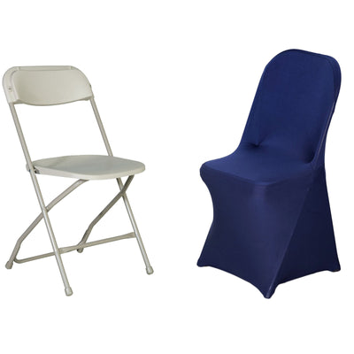 Navy Blue Spandex Stretch Folding Chair Cover