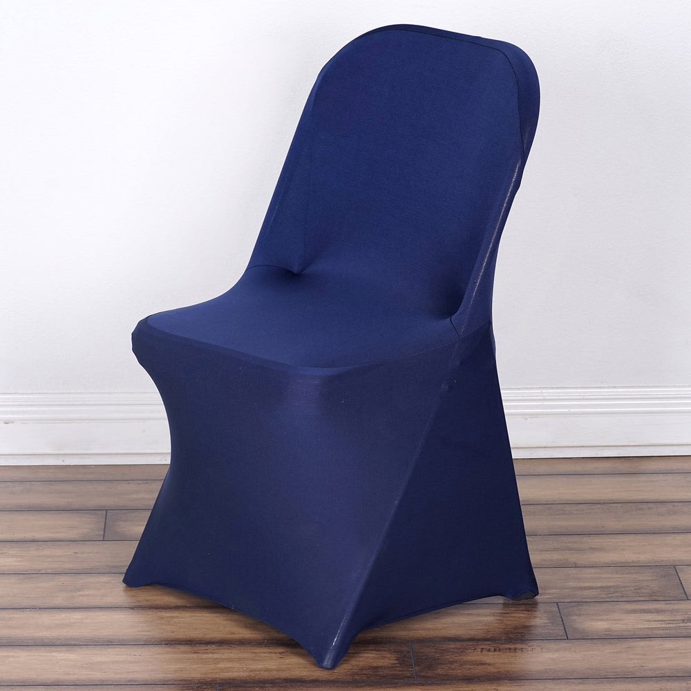 Wholesale Navy Spandex Stretch Folding Chair Cover Wedding