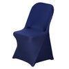 Navy Spandex Stretch Folding Chair Cover