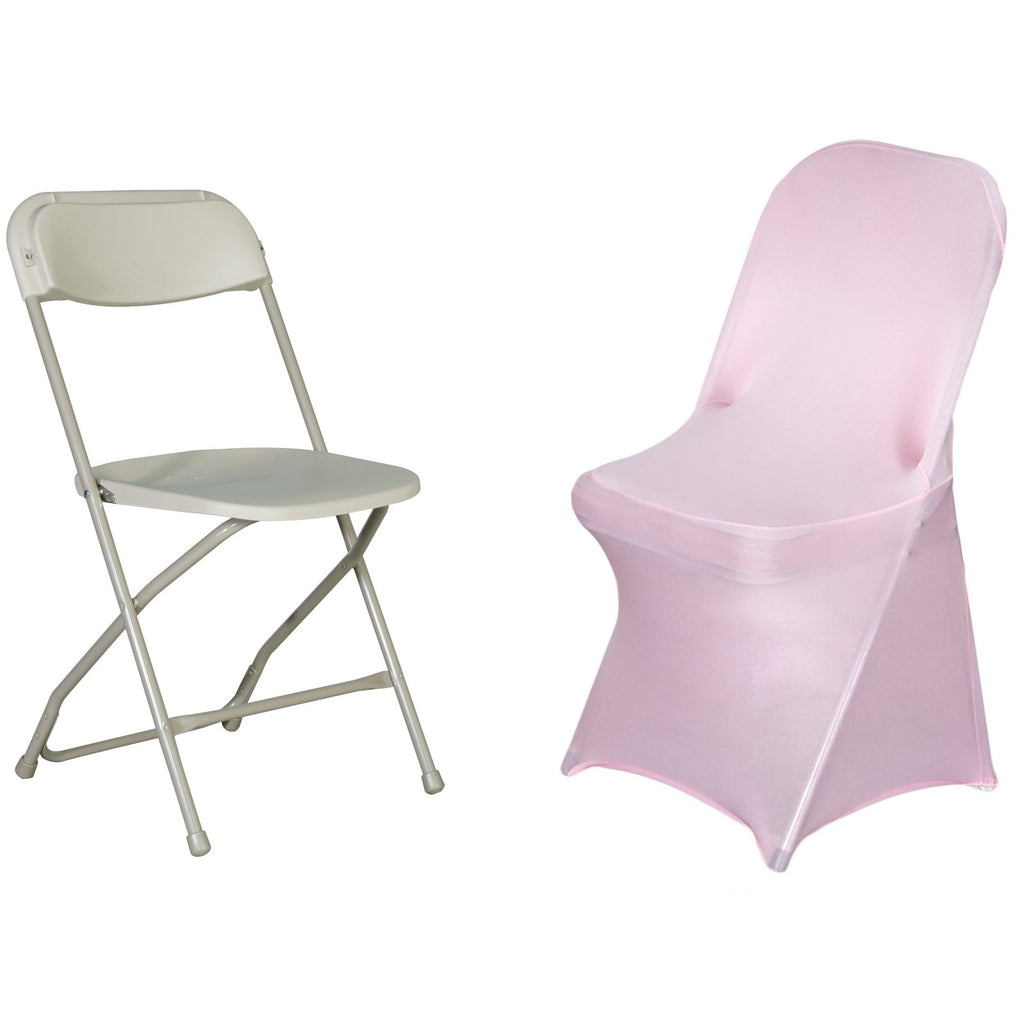 Fine Pink Spandex Stretch Folding Chair Cover Beatyapartments Chair Design Images Beatyapartmentscom