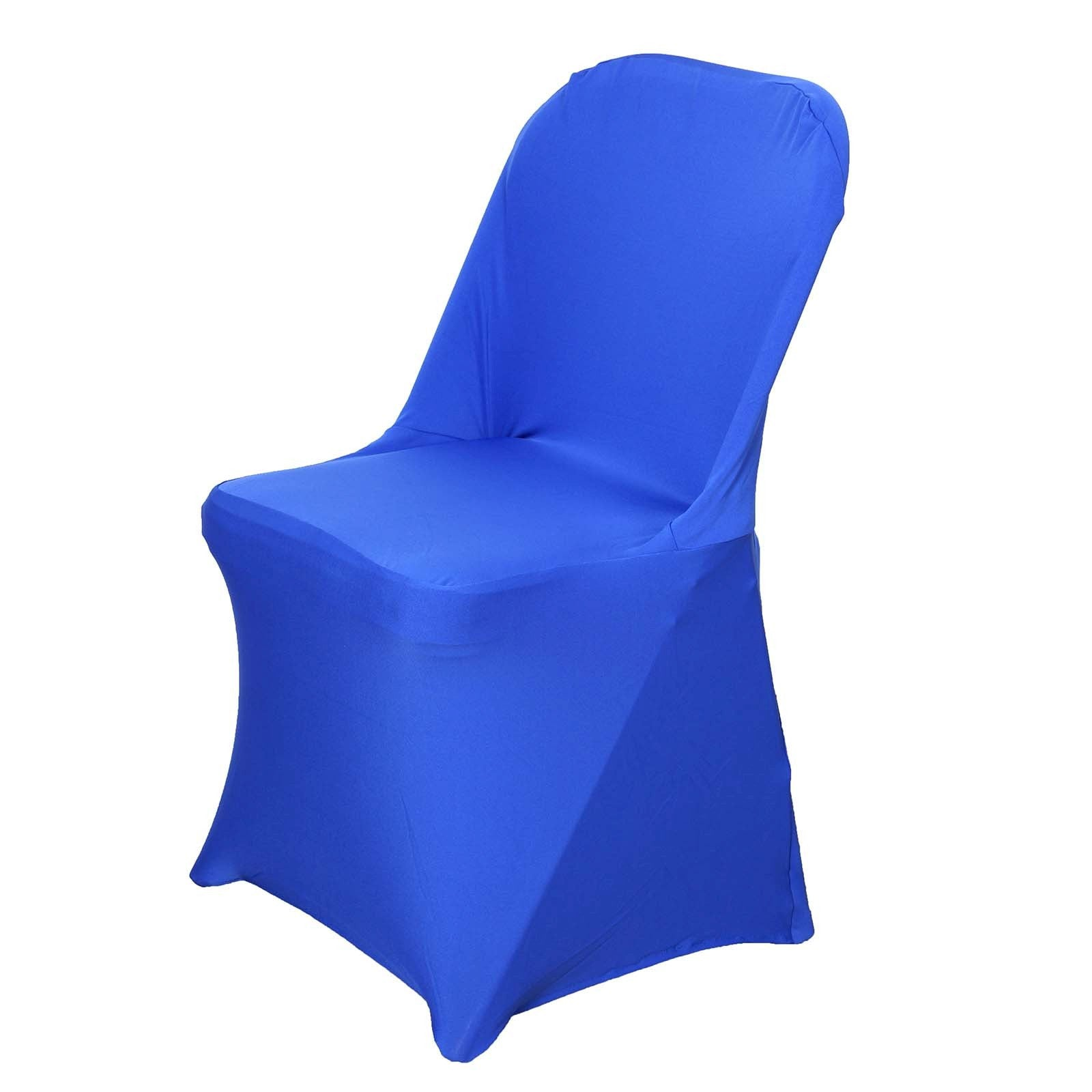 Chair Covers for Folding Chair Spandex Royal Blue