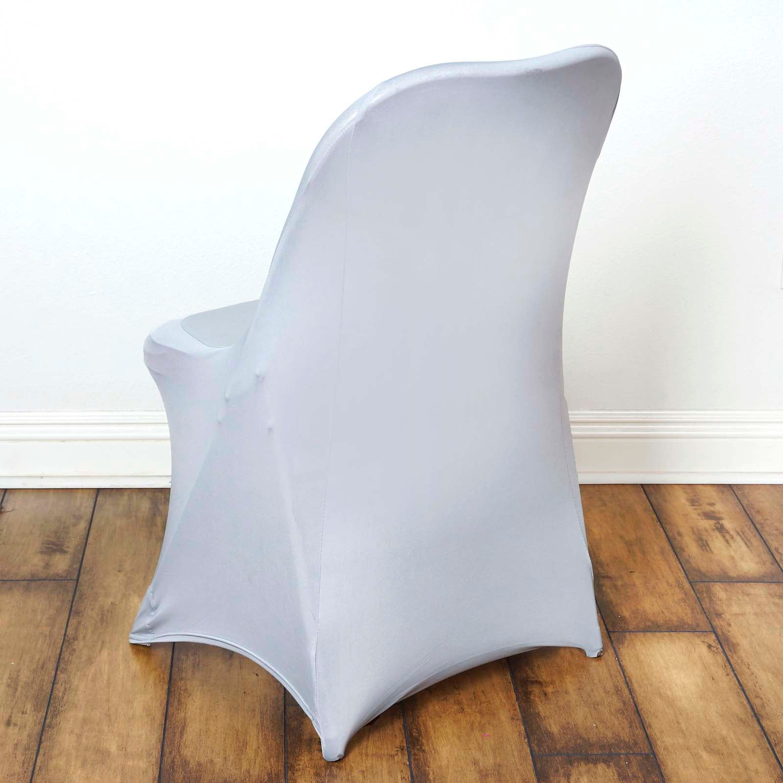 Chair Covers For Folding Chair Spandex Silver