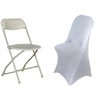 Silver Spandex Stretch Folding Chair Cover[overlay]Fits over Folding Style Chairs