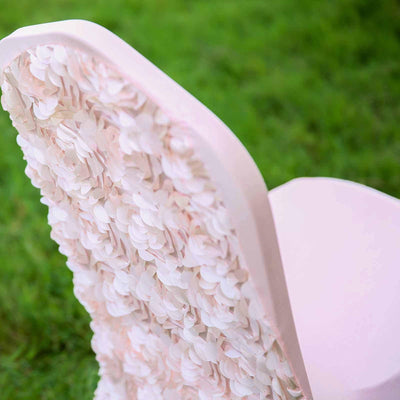Blush | Rose Gold Satin Rosette Stretch Banquet Spandex Chair Cover