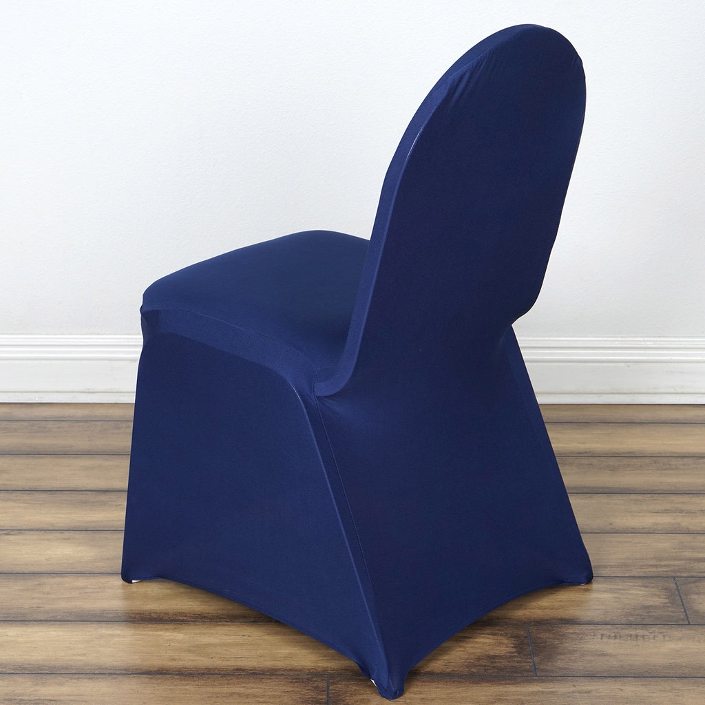 Wholesale Navy Spandex Stretch Banquet Chair Cover Wedding