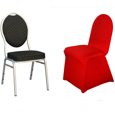 Red Spandex Stretch Banquet Chair Cover