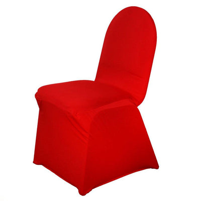 160 GSM Red Stretch Spandex Banquet Chair Cover With Foot Pockets