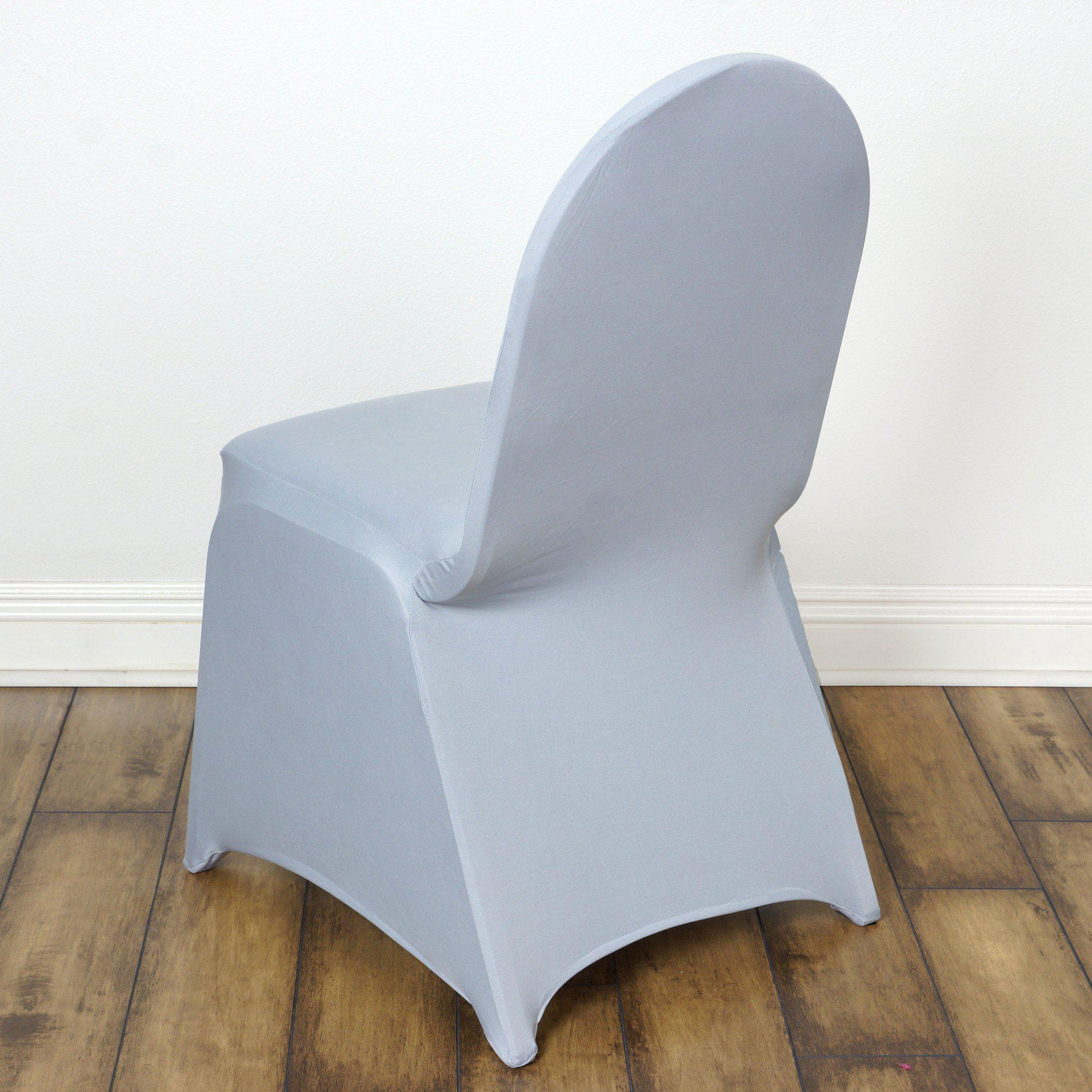 wholesale silver spandex stretch banquet chair cover wedding party event