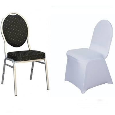 White Spandex Stretch Banquet Chair Cover